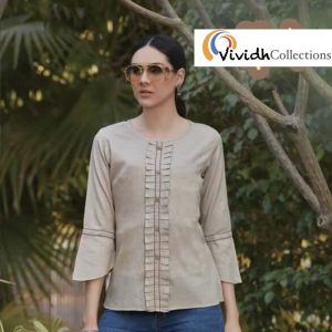Wheat Fitted Blouse 1.001