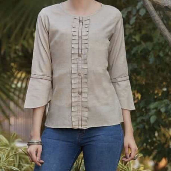 Wheat Fitted Blouse 2.001