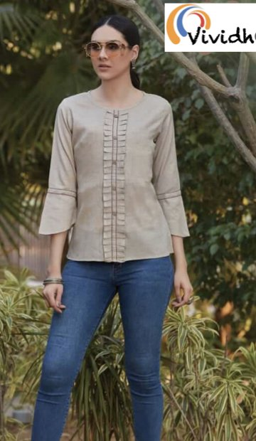 Wheat Fitted Blouse 3.001